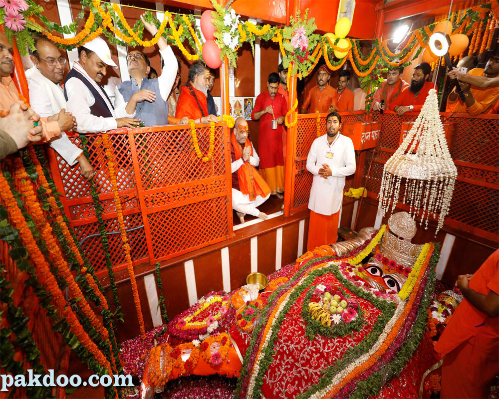 Famous Lete Hanuman Temple in Prayagraj or Allahabad.