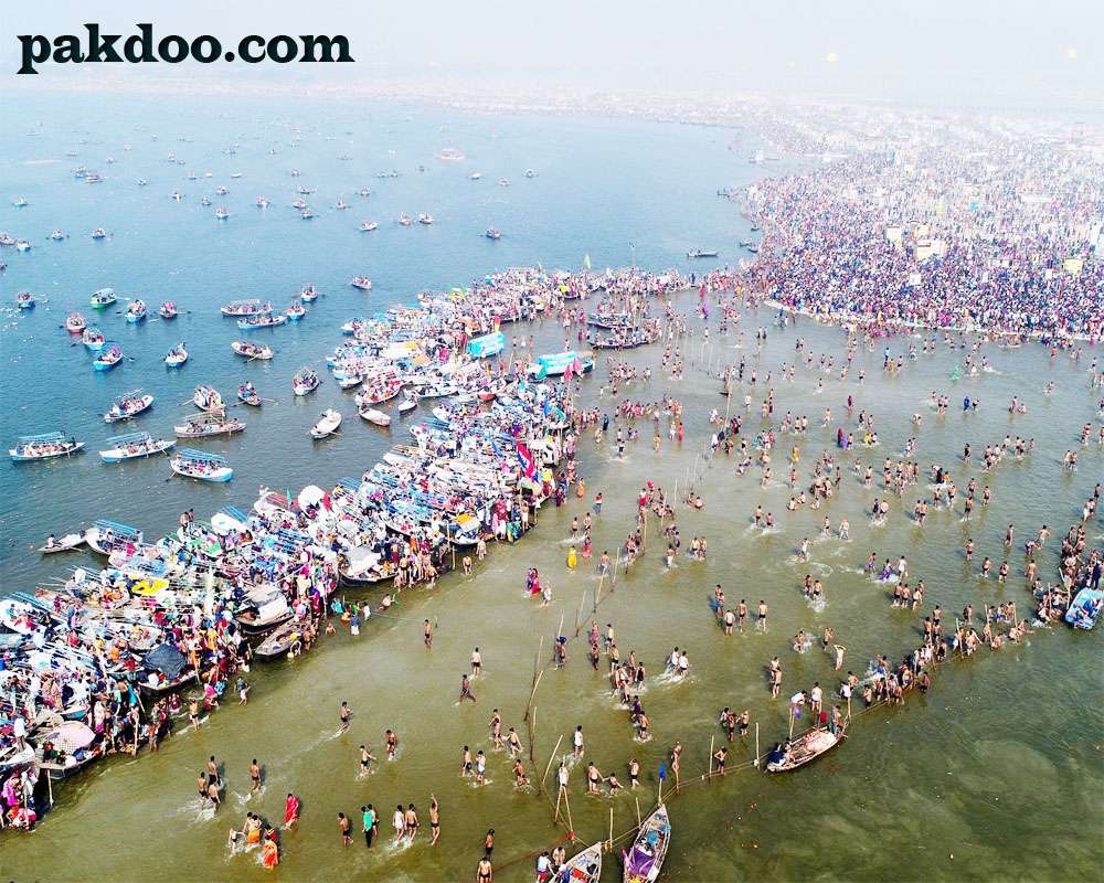 Triveni Sangam in Prayagraj | Ganga, Yamuna, Saraswati join in Prayagraj