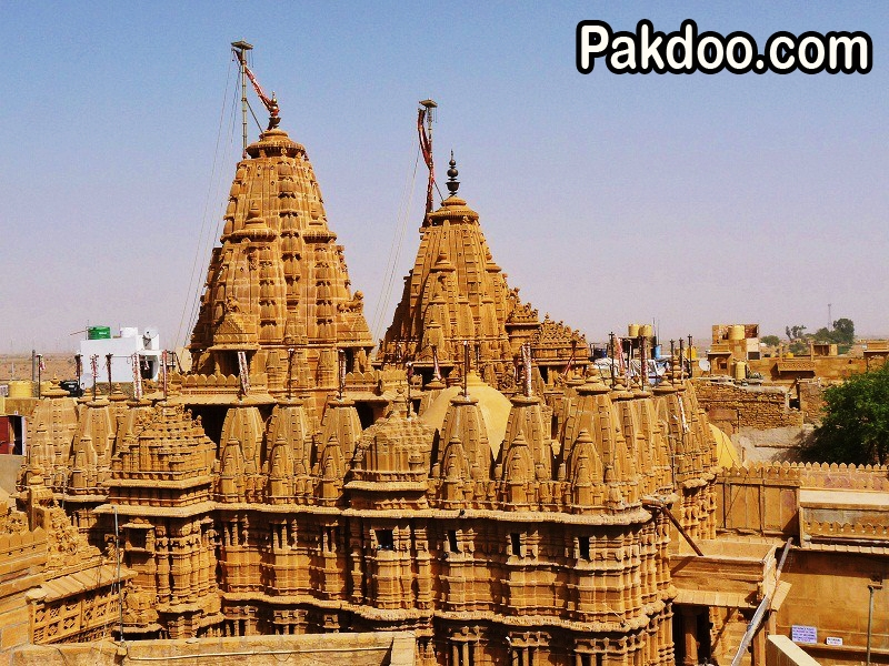 this jain temple is very famous in the Jaisalmer for its unique design.
