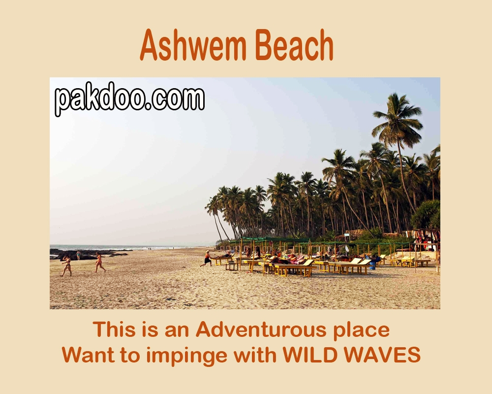 ashwem beach is famous for adventure in goa.
