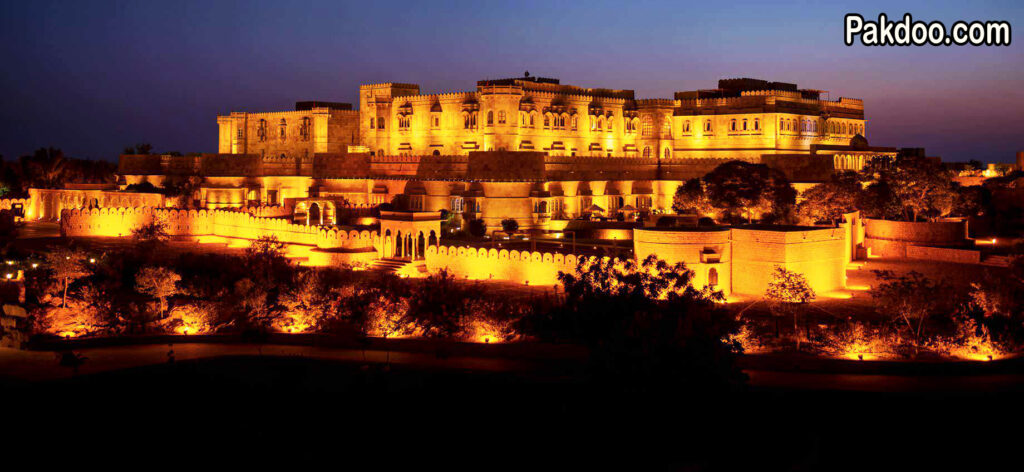 the golden city fort is situated in Jaisalmer and it is famous for its beauty and ambience.