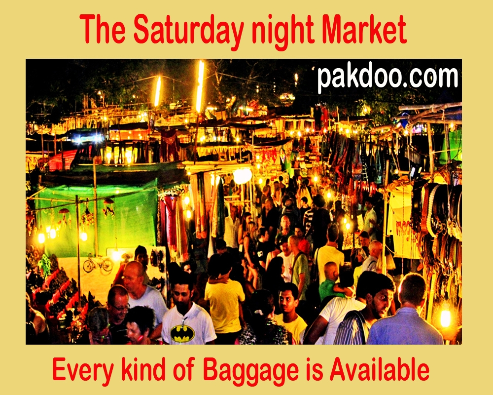 the Saturday night market is like polestar in the Goa.